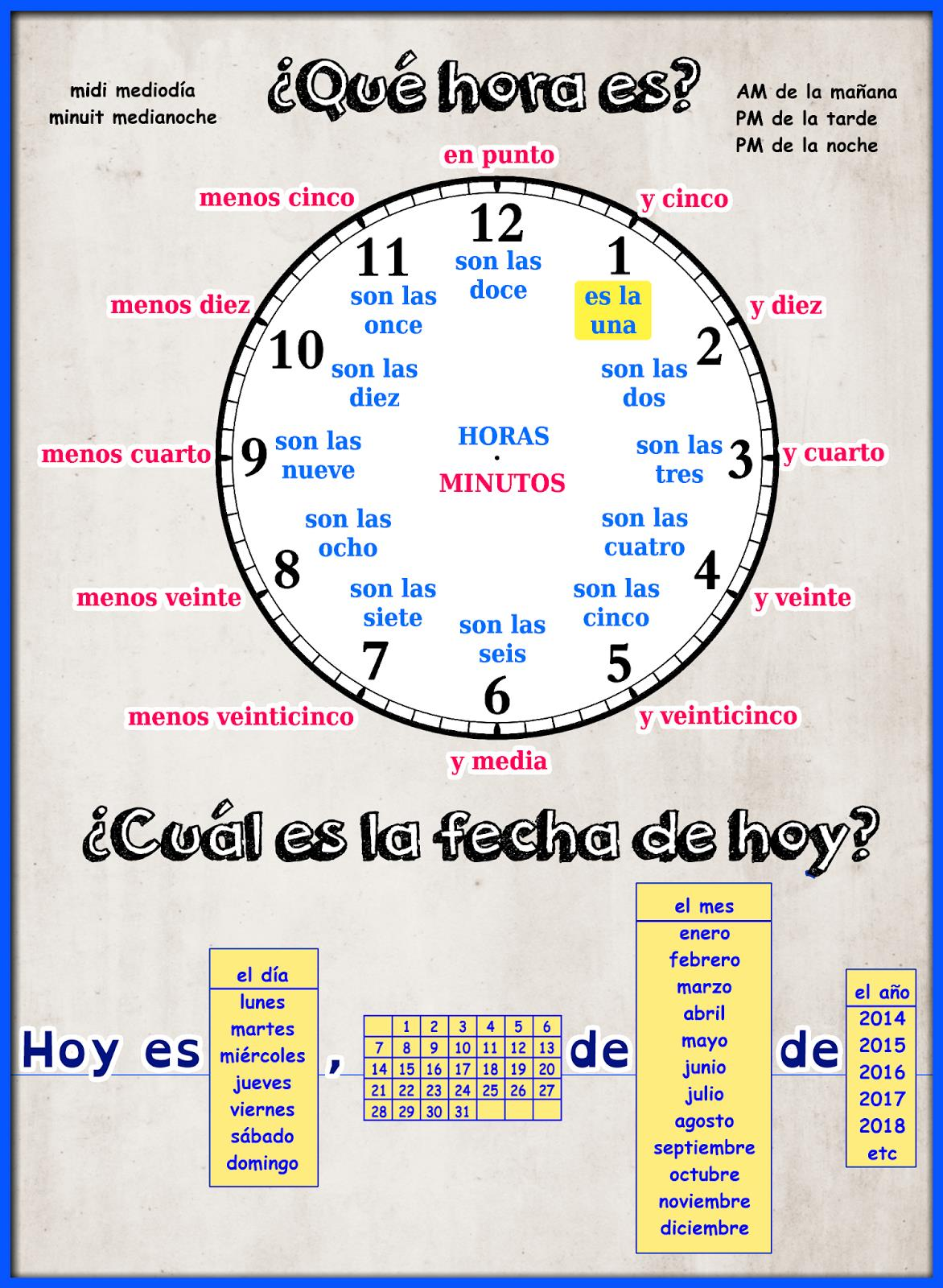 Worksheet La Hora Worksheet hora es el tiempo pasa volando resources and ideas for la hora